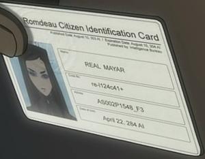 Občanský průkaz slečny Mayar