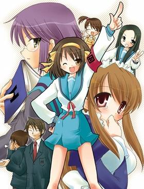 Hlavní postavy seriálu The Melancholy of Haruhi Suzumiya